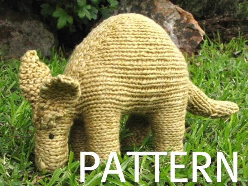 Aardvark Knittng Pattern, PDF