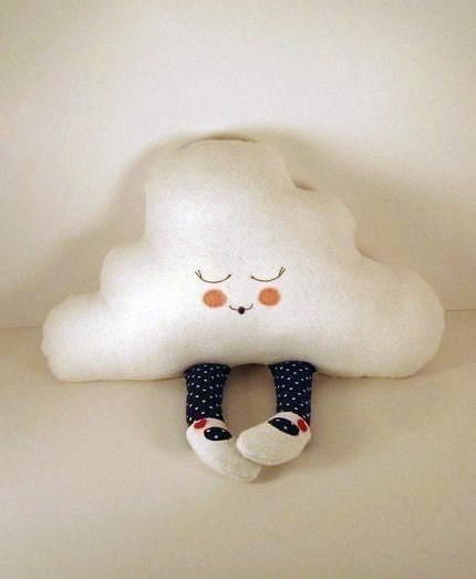 Hug A Cloud in navy and red