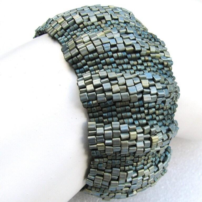 Corrugated Patina Peyote Cuff (2504)