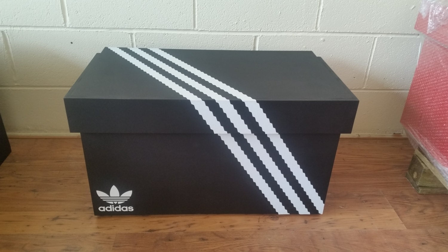 XL Trainer Storage Box Adidas Giant Sneaker Box (fits 68no pairs of trainers)