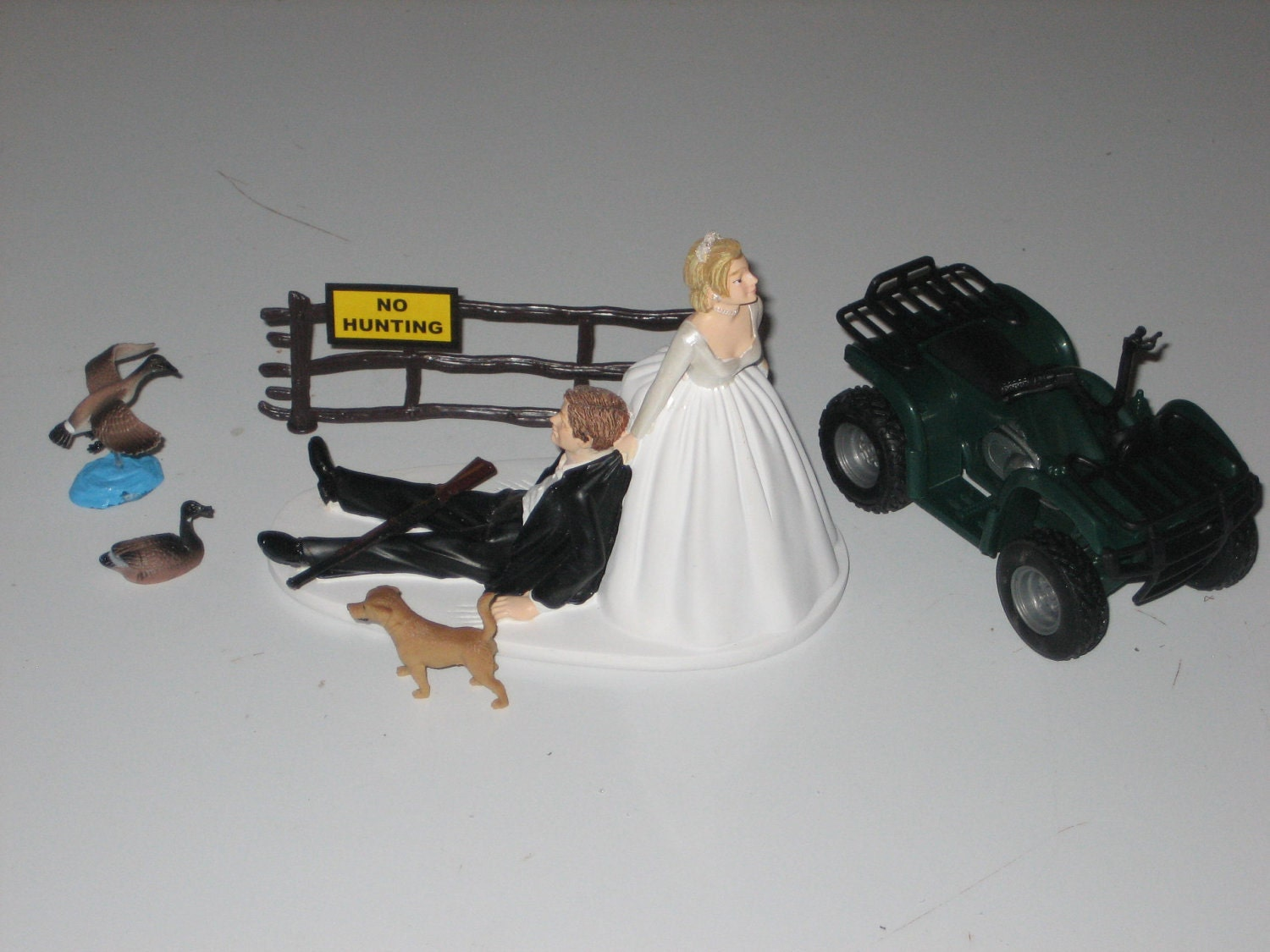 Goose Geese Hunting Wedding Cake Topper Groom s Cake by