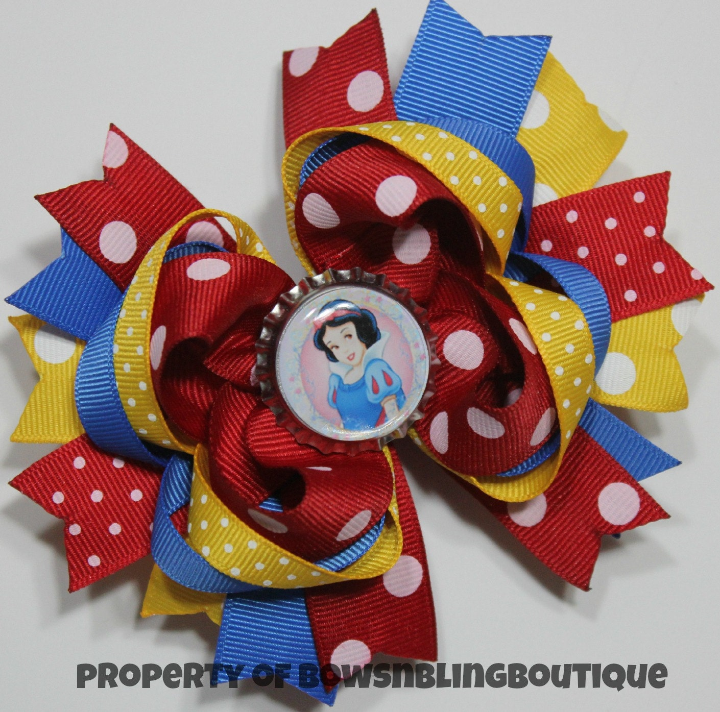 how to make snow white hair bow