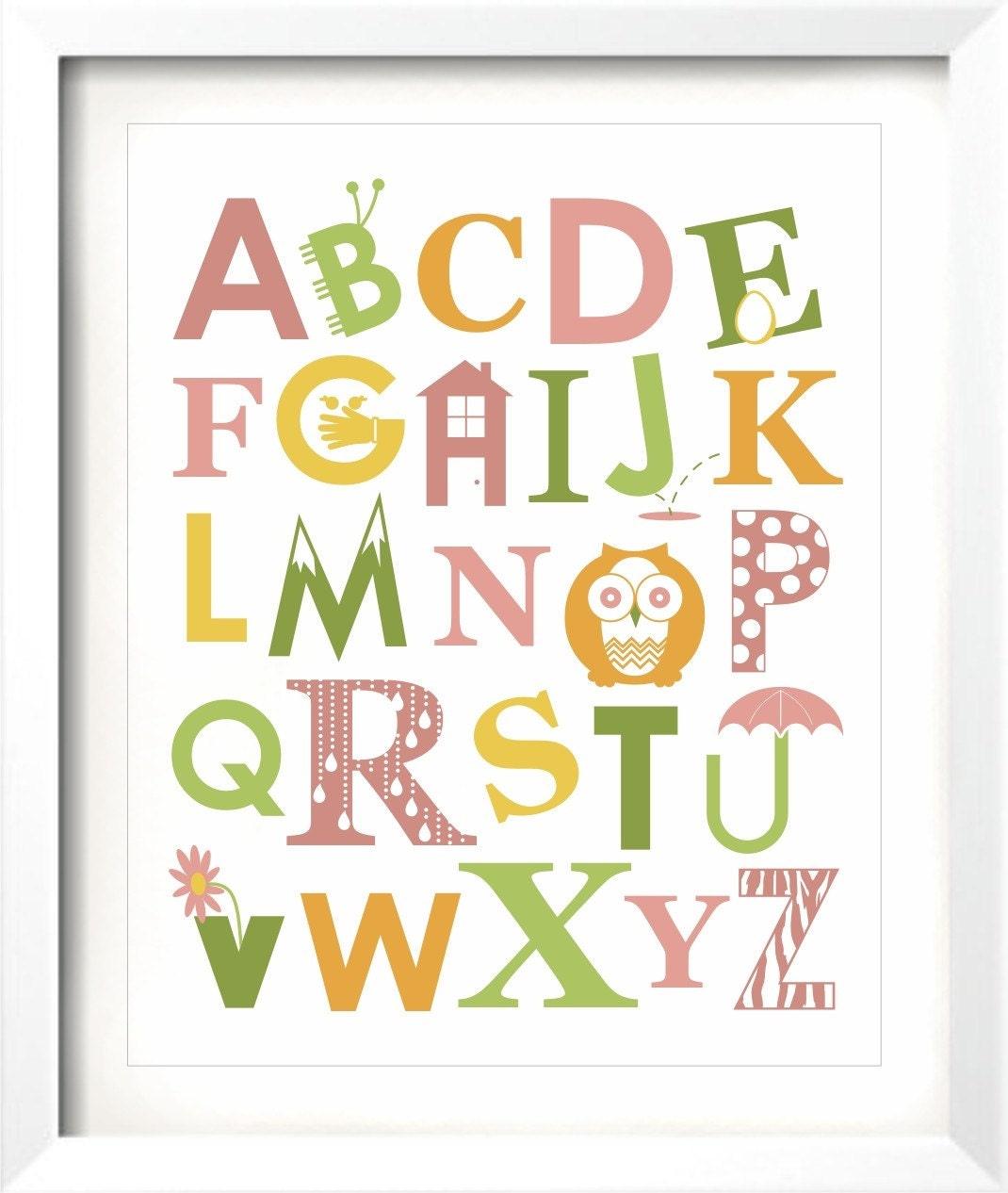 ABC Fun - 11x14 Alphabet Print