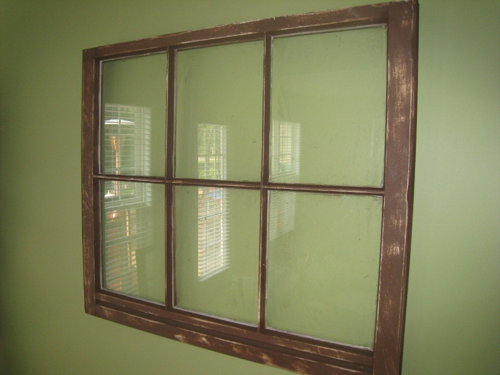 Vintage Distressed Upcycled Yellow Cream 6 pane Window turned Picture Frame or Wedding Seating Chart Ready for Shipment