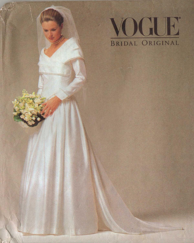 90s Vogue Bridal Original Pattern 2768 Womens By CloesCloset