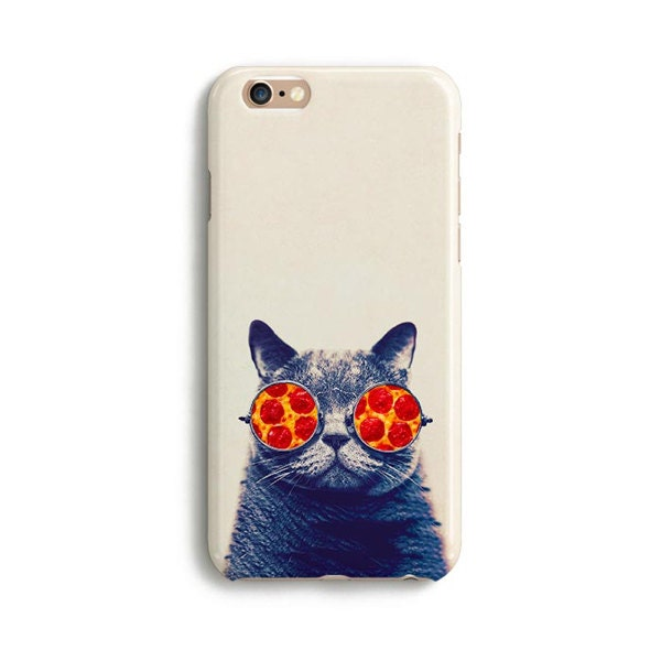 Pizza cat glasses  iPhone 7 case Samsung galaxy S7 case iPhone 6 iphone 7 plus samsung galaxy S6 iphone SE 1P106B