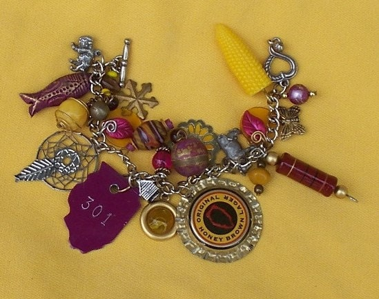 Land Of Lincoln Charm Bracelet