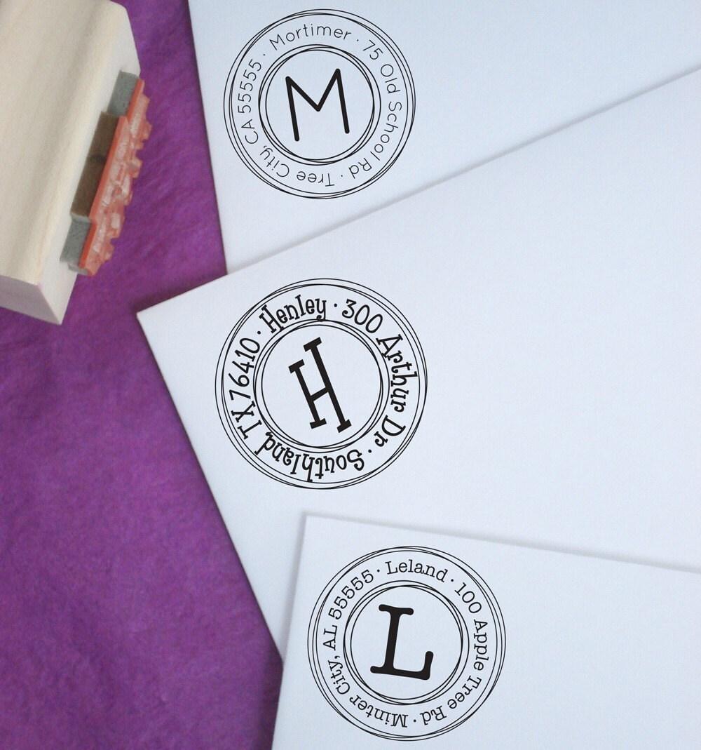 Small Triple Circles Customized Address Stamp