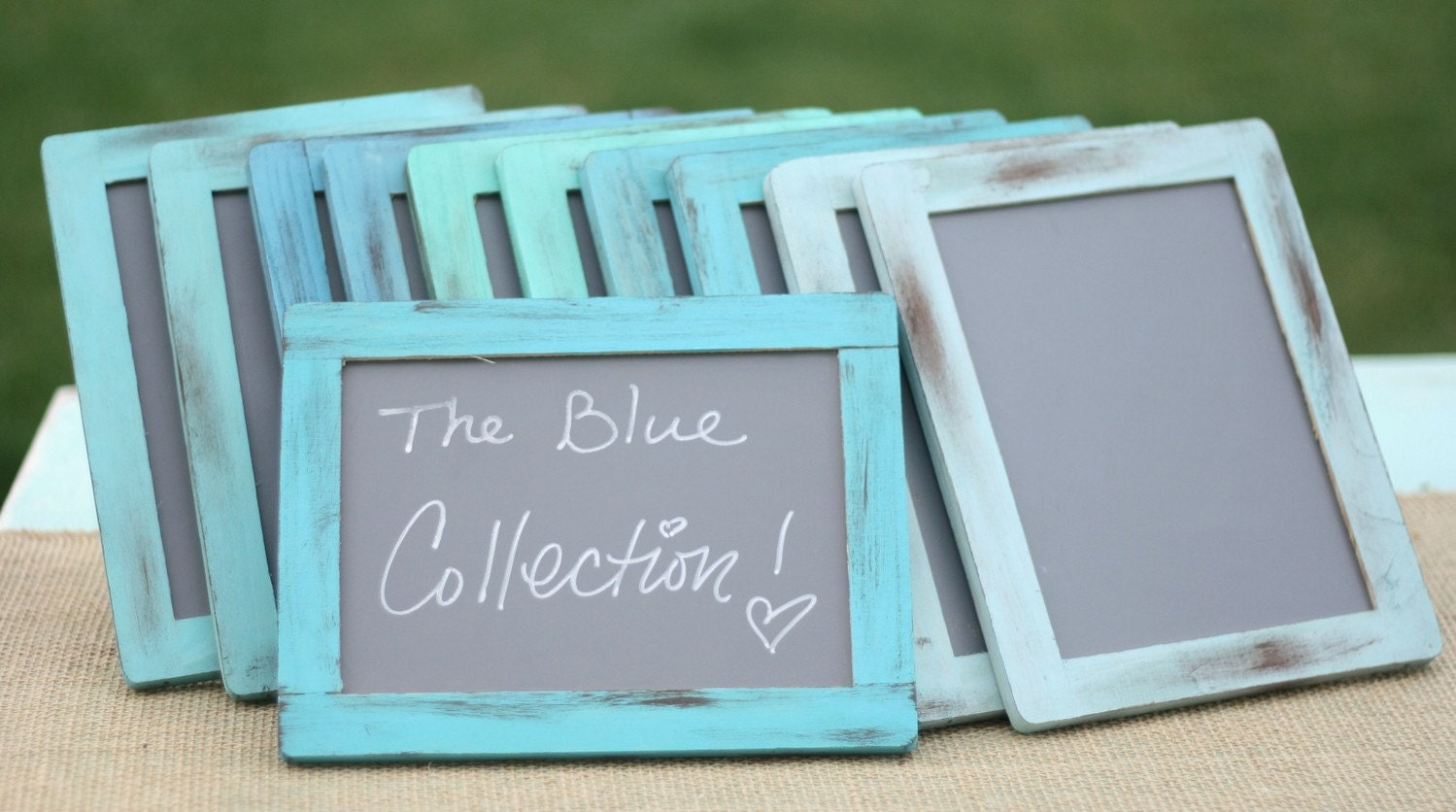 you pick the colors Set Of 10 Coastal Beach Lake Cottage Living Nautical Distressed Blue Collection Barn Wood Style Shabby Chalkboard Frames Signs Mud Room Laundry Room Nursery Kitchen Home Office Spring Cleaning Natural Modern Home Decor