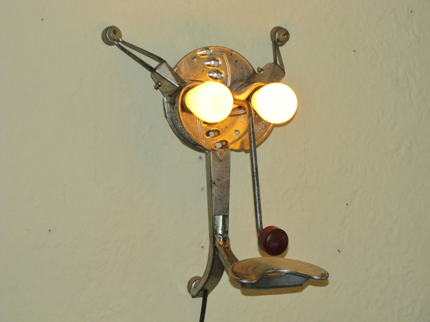 Vintage Food Grater Wall Lamp