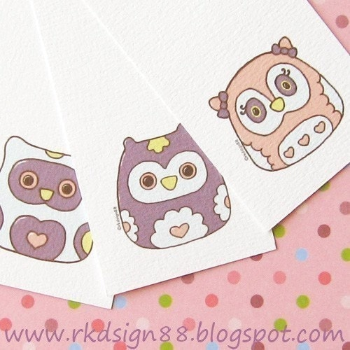 rkdsign88.blogspot.com etsy owl printable pdf fun illustration nursery drawing art print cute whimsical reproduction