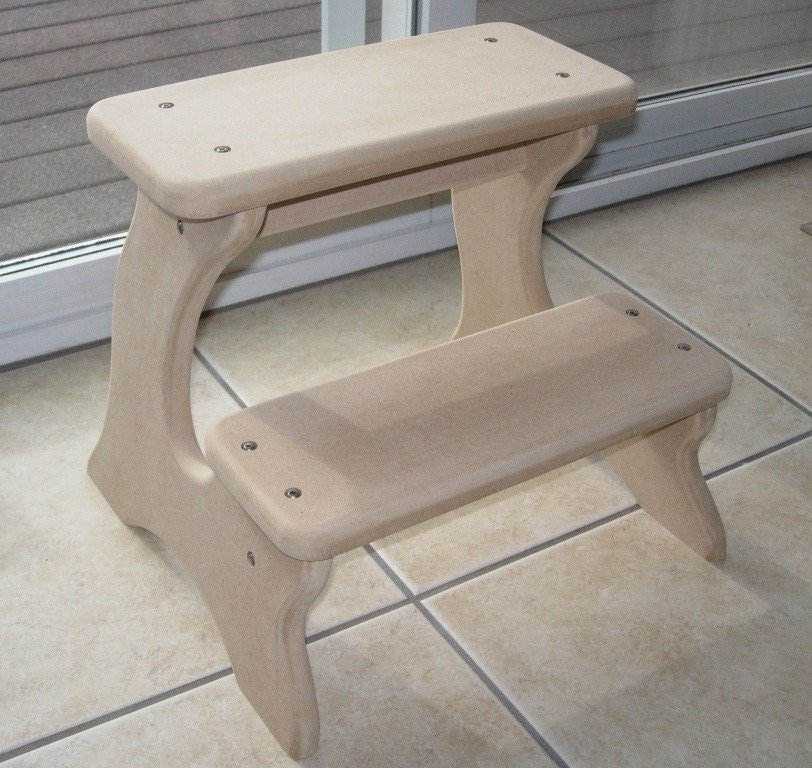 Unfinished Step Stool Furniture Wooden Wood Mdf By Laffydaffy