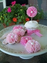 Ruffled Cupcake Toppers Set of Six