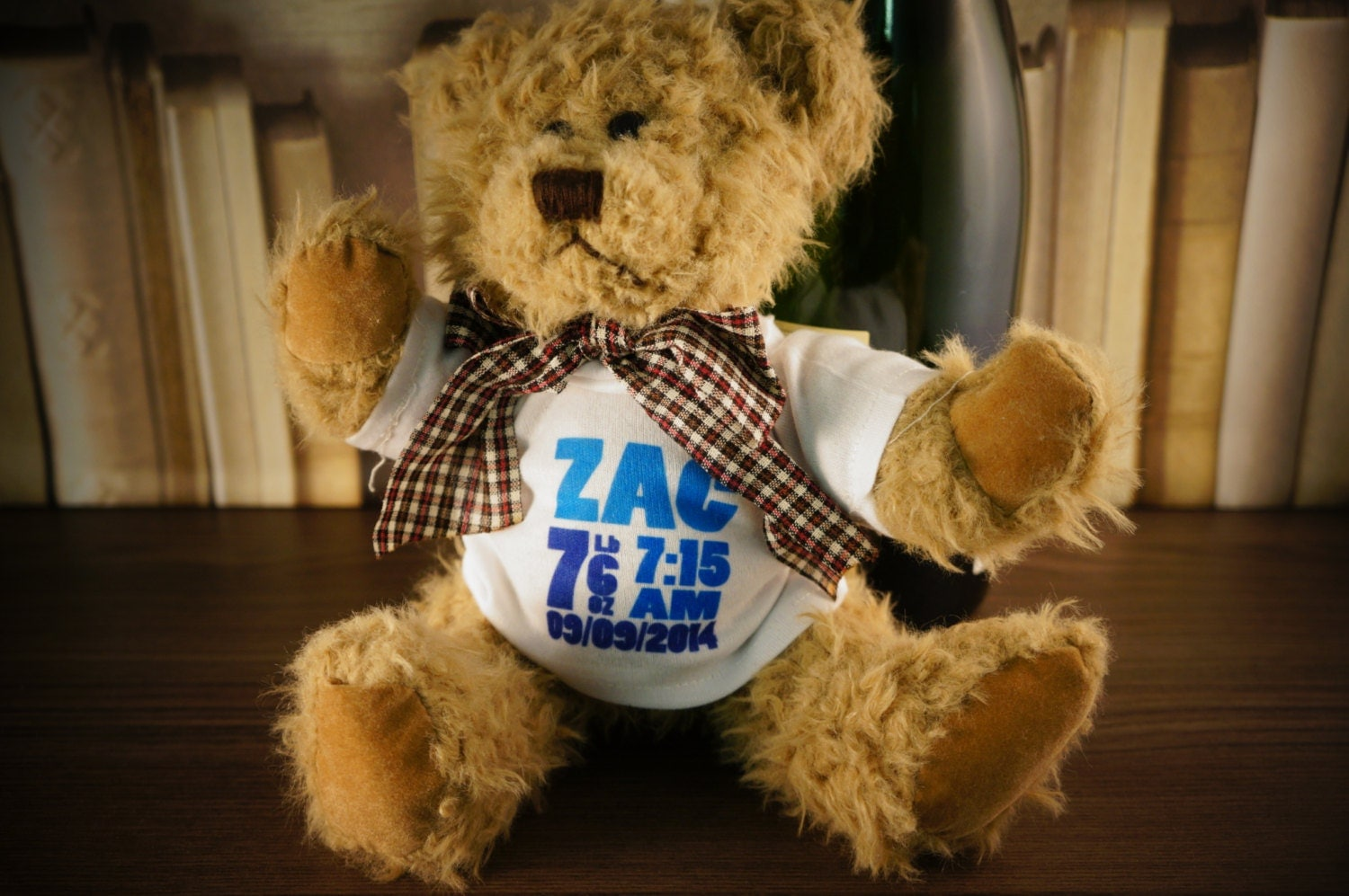 Personalised New Born New Baby Gift Teddy Bear for Baby Boy