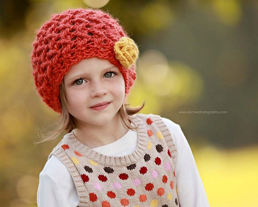 Custom Colors - Crochet Girl Hat - (Baby, Toddler, Child)