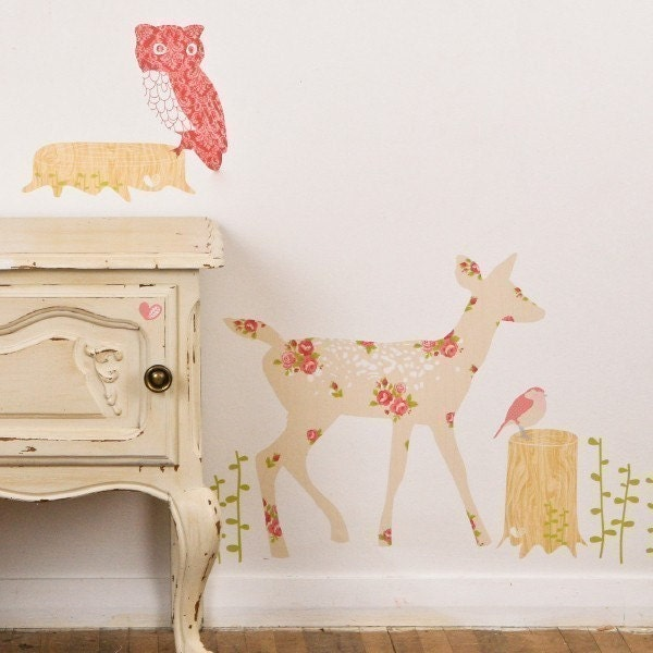 Oh Deer - Adhesive Fabric Wall Stickers / Decals