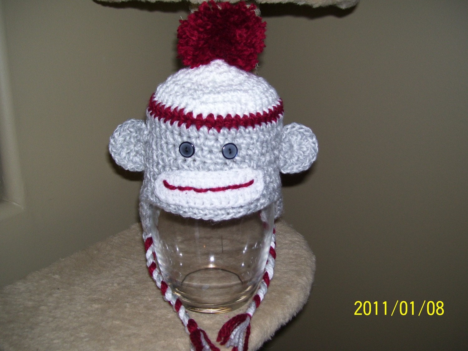 Amazon.com: Sock Monkey Hat Crochet Pattern with Ear Flaps and