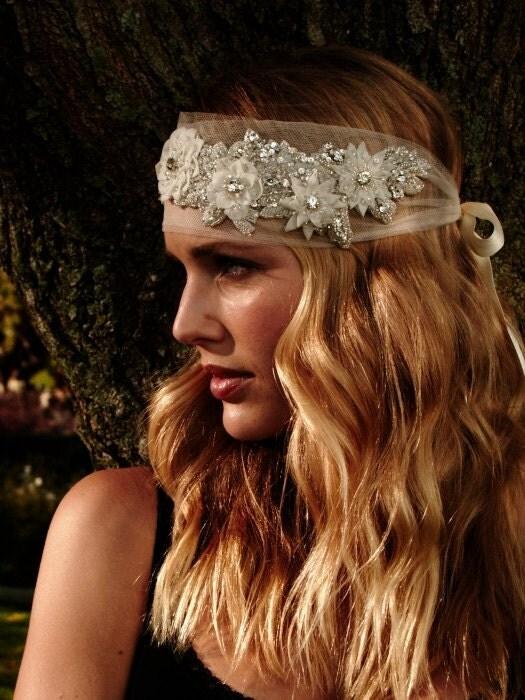 314 - Franchesca Lux Headpiece -  bridal comb rhinestone comb crystal comb veil comb bridal brooch bridal head piece swarovski