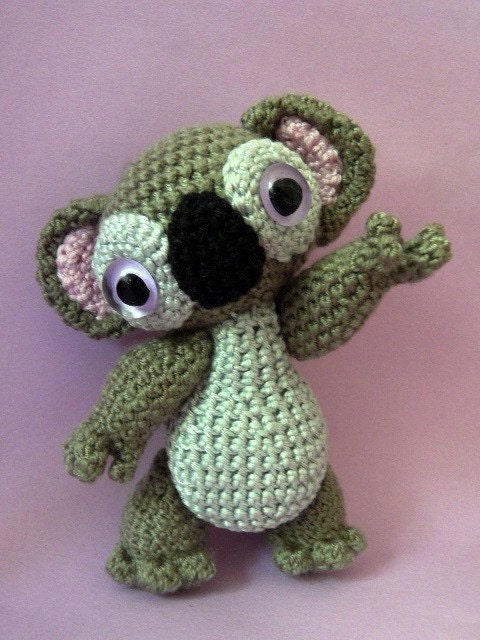 Items similar to amigurumi pattern monty the koala