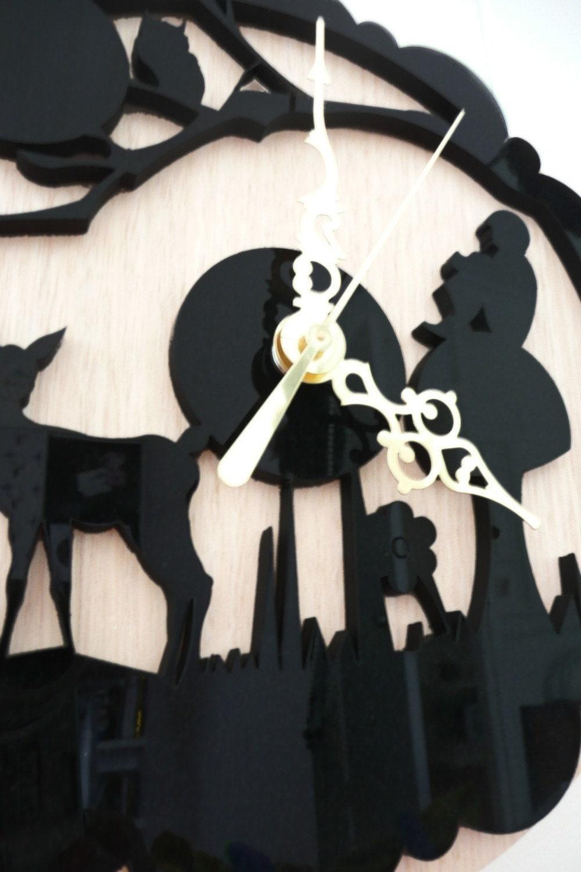 лазерной резки настенные часы.  очарованный forest.whimsical, дерево, на snowfawn на Etsy