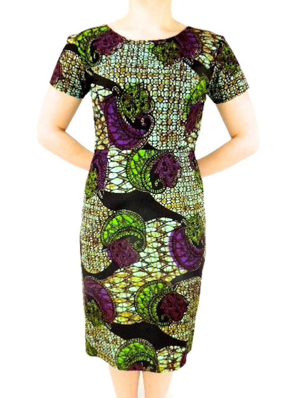 Africa Print Dress Africa Dress Ankara Dress Africa Clothing Knee Length Fitted Women Wedding Outfit