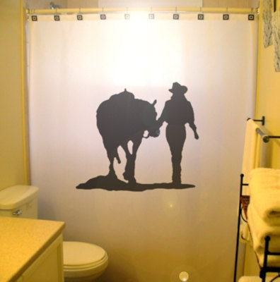 Cowgirl Shower Curtain Horse Western theme by