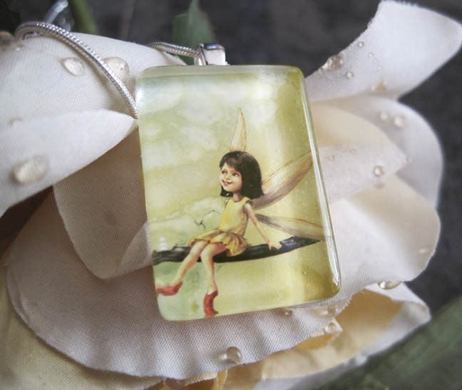 Fairy Girl Glass Pendant