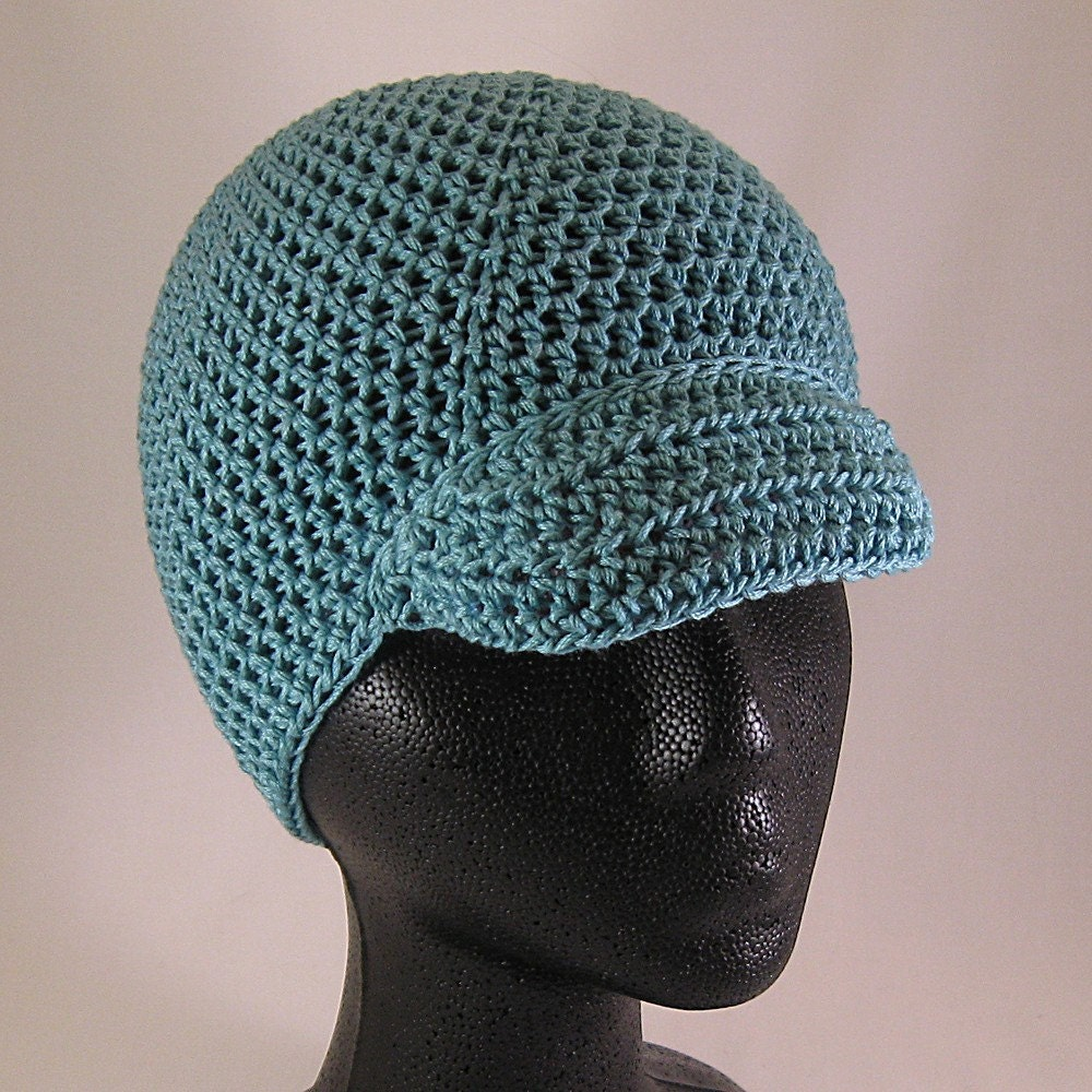 Etsy :: jenhintz :: Crochet Brimmed Hat in Turquoise Cotton