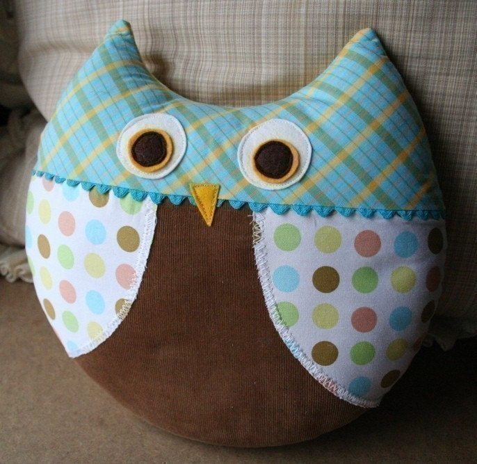 Cute Pillow Sewing Patterns : Max the Owl Pillow Plush Sewing Pattern PDF Cute Simple by ginia18