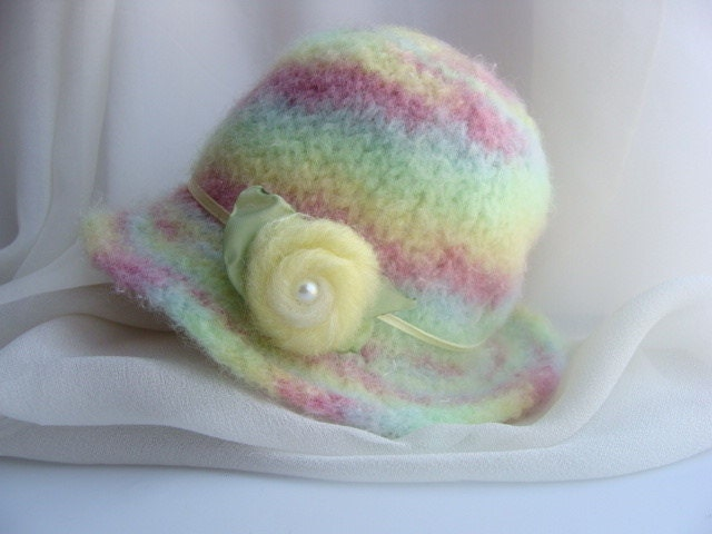 Felted Knit Hat Pattern : Felted Newborn Hat Knit PATTERN Only by ilashkisses on Etsy
