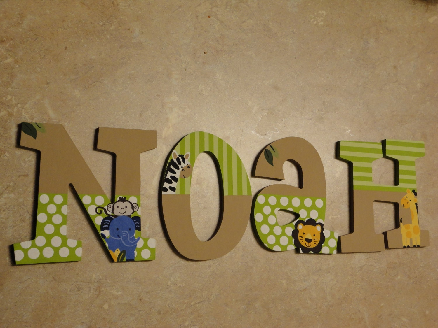 items similar to hand painted wooden letters tiddliwinks With hand painted wooden letters