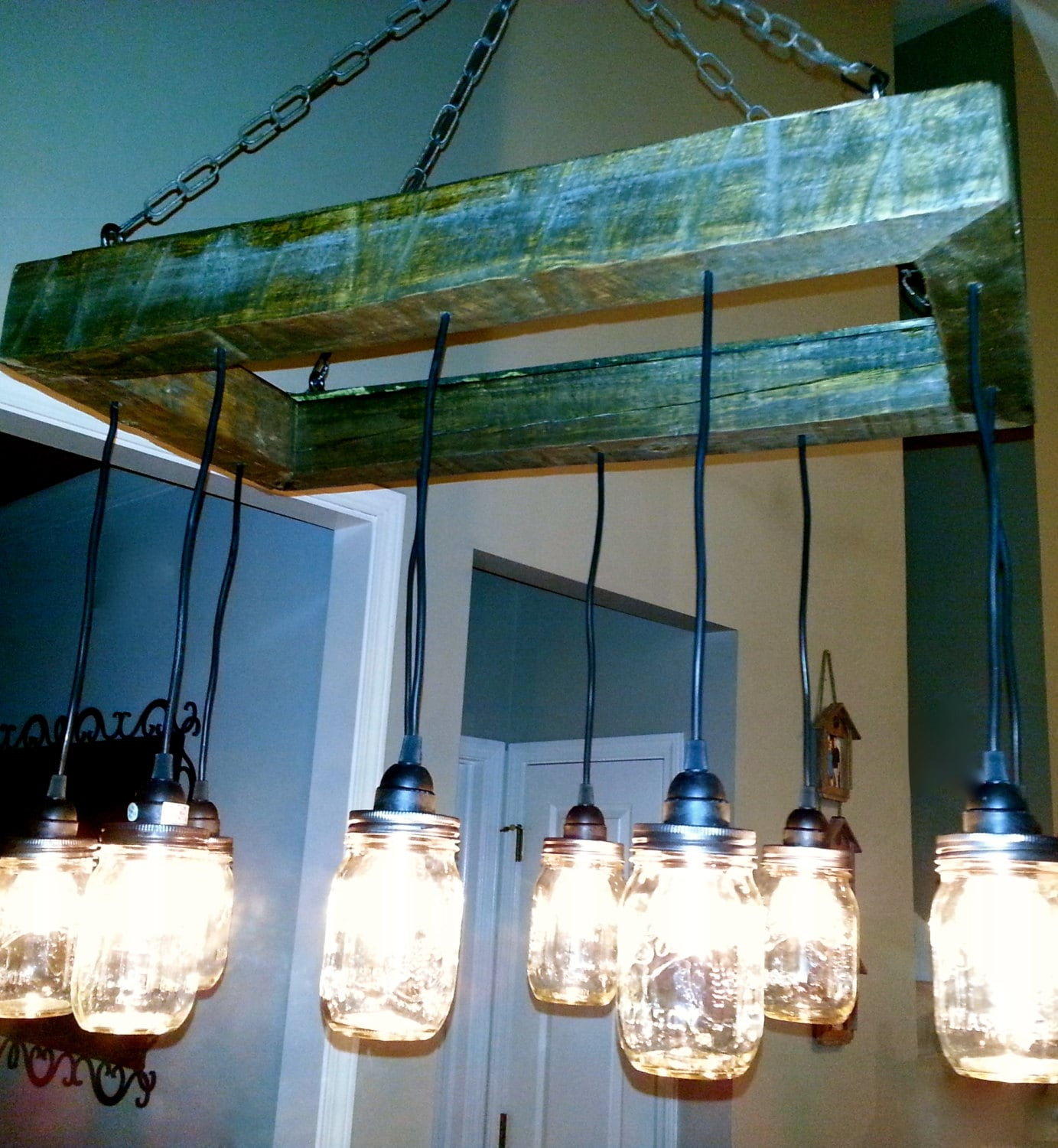 Edison Bulb Chandelier Mason Jar Lighting Mason By: Mason Jar Chandelier Mason Jar Lighting Mason By ChicagoLights
