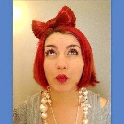 lady gaga hair bow headband. Hair Bow Lady Gaga style in