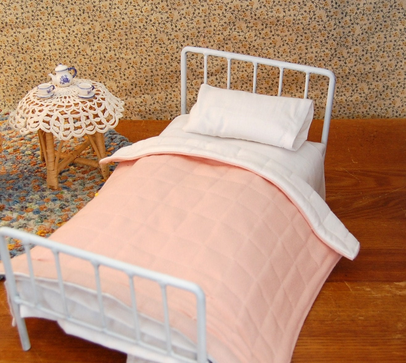The Story of a Seamstress: Miniature Antique Style Beds