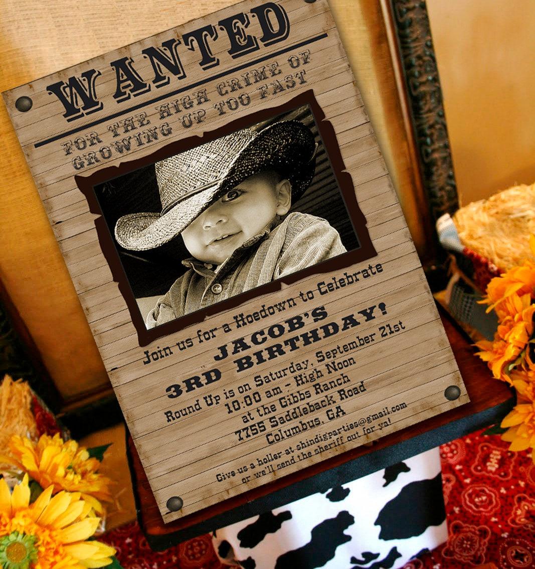 Cowboy Party Invites Free Printables