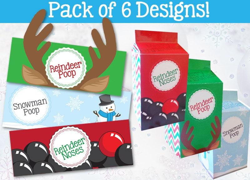 Snowman Poop Labels To Print