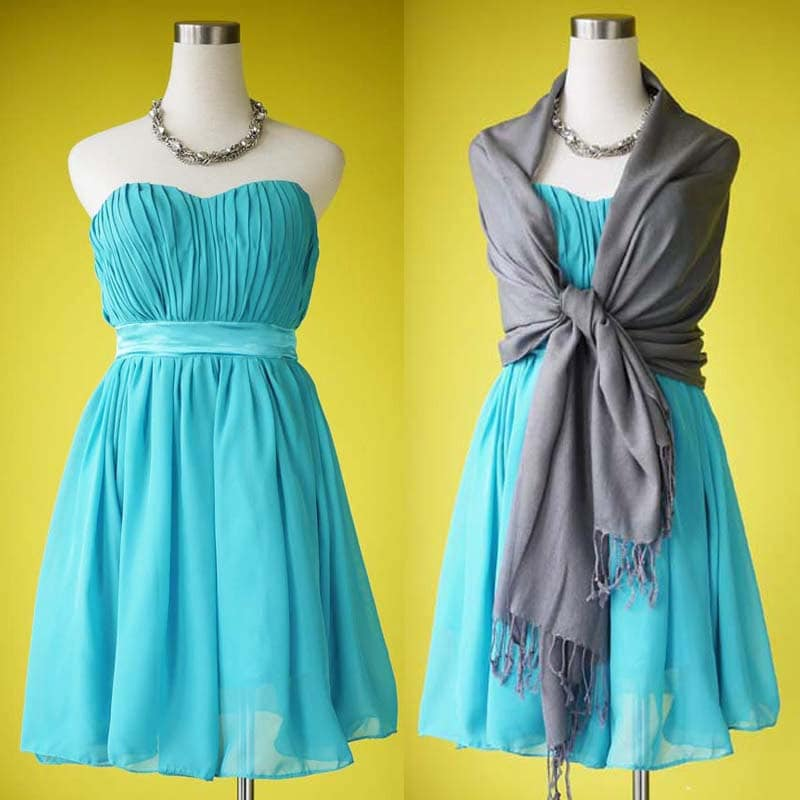 Items similar to turquoise bridesmaid dress tea length for Turquoise wedding dresses for bridesmaids