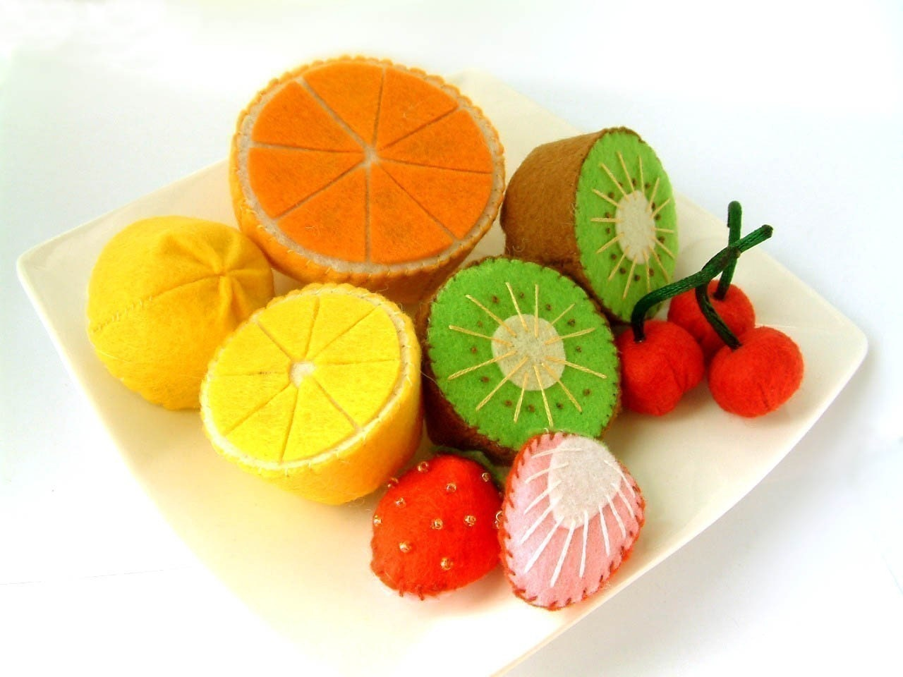 DIY Lovely fruit set(Lemon,Orange,Kiwi,Cherry,Strawberry)--PDF Pattern via Email--V02