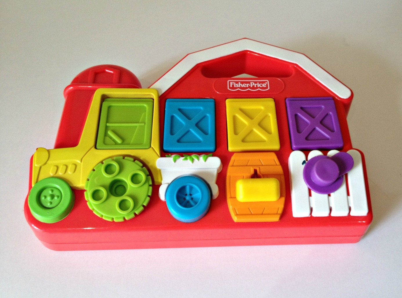 Fisher Price Pop up Pals Barn Vintage Activity Centre Farm Animals Learning Development Toy Barn Activity Centre 1993 Vintage Toy