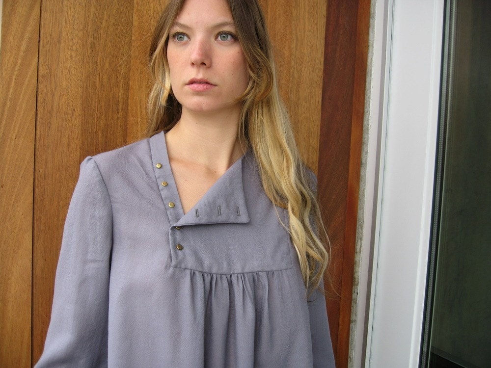 periwinkle gray tunic (made to order)