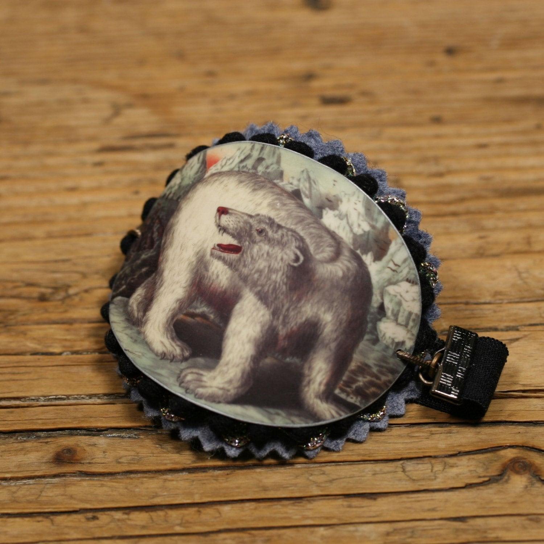 Polar Bear Cuff  Bracelet