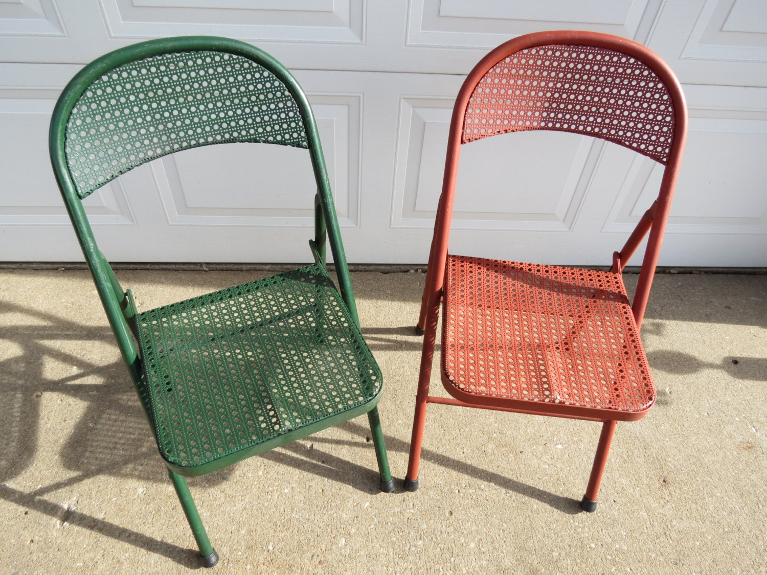 Vintage Metal Folding Chairs By Thevrose On Etsy