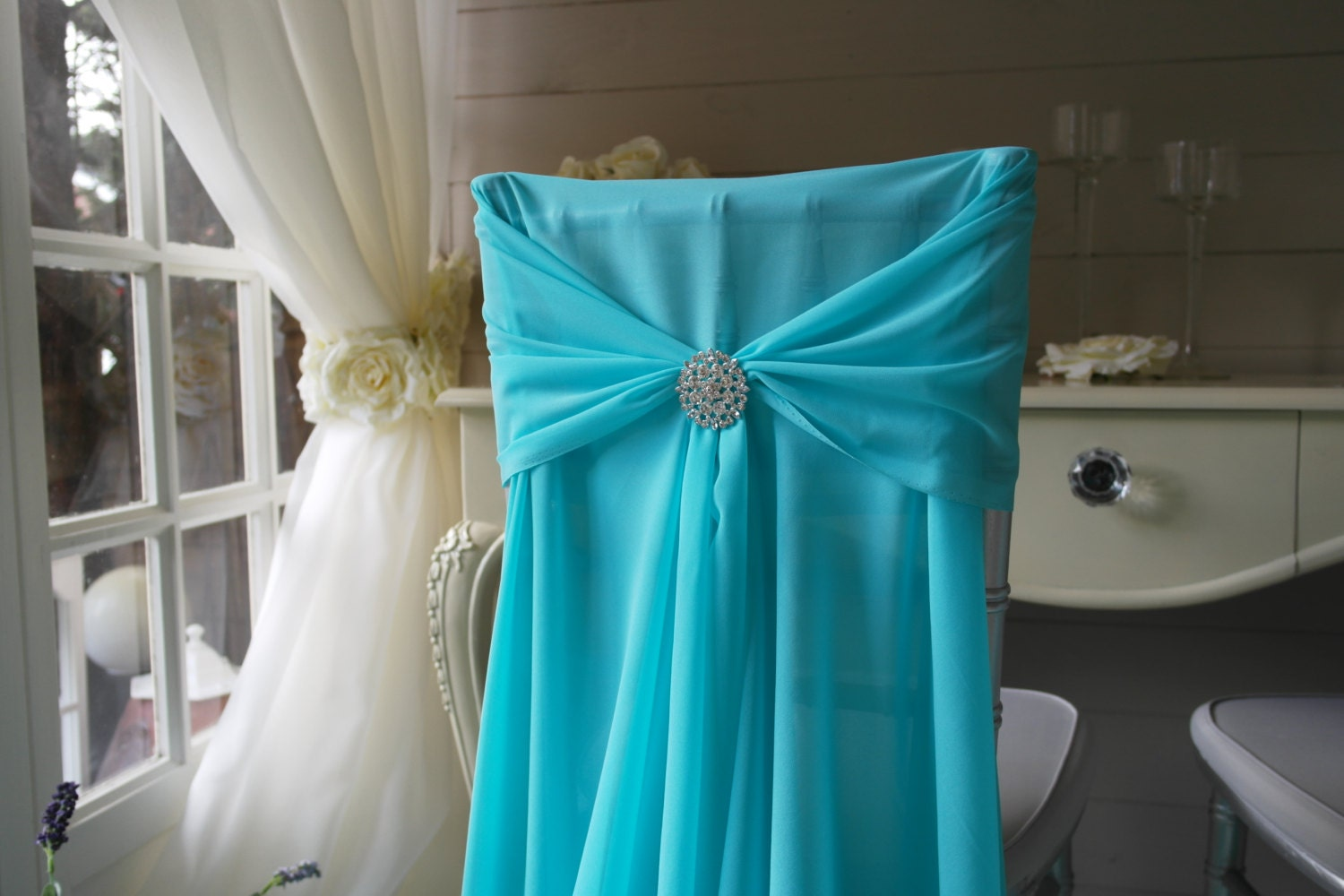 items similar to chiffon chair sash mint length 2 5 m