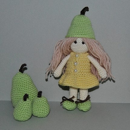 PDF Crochet Pattern - Little Pear Doll