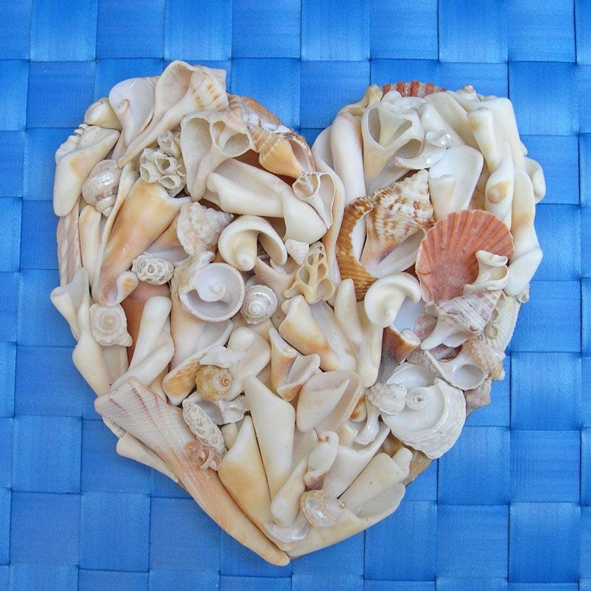 Custom Seashell Heart - Handmade with Driftshells