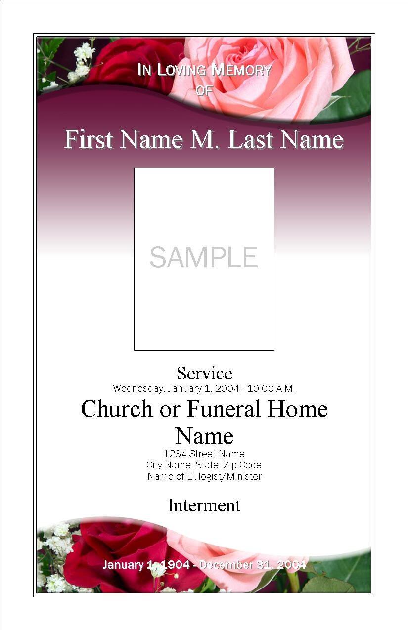 blank funeral program template .