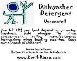Unscented Natural Homemade Dishwasher Detergent Soap 37 70 loads