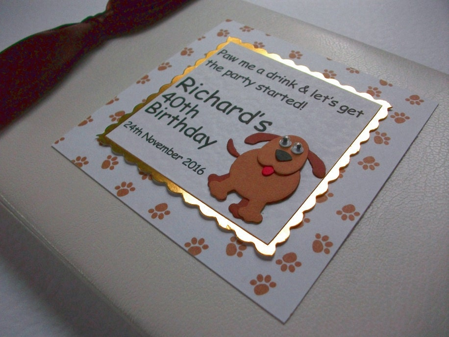 Birthday Guest Book Retirement Party Personalised Memory Book 'Dog'
