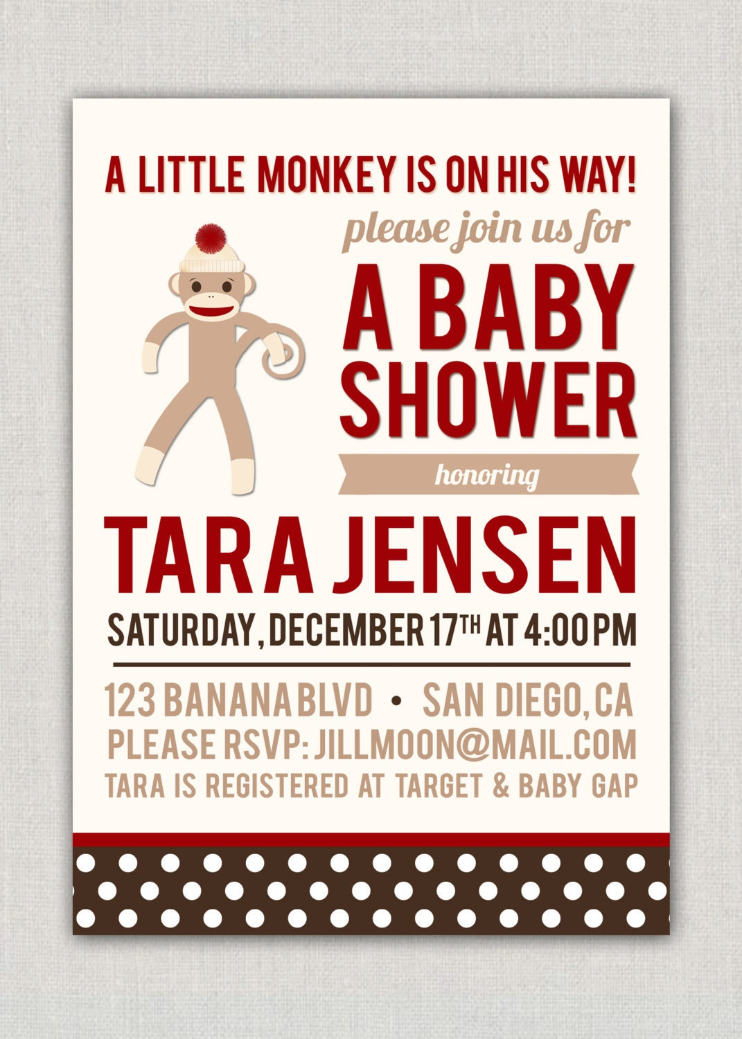 Sock Monkey Baby Shower Invitations could be nice ideas for your invitation template
