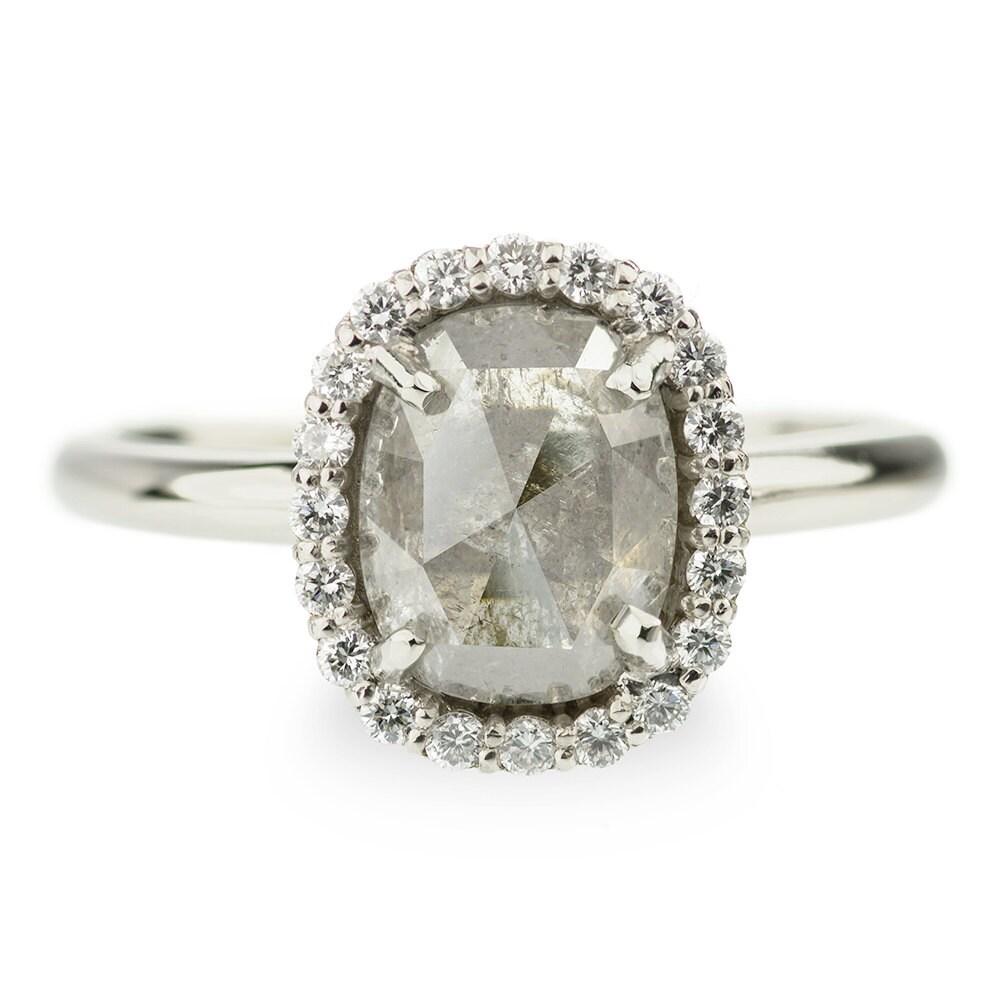 Yellow diamond ring rose gold 2017